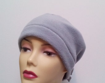 Women's cancer hats, and wraps.  Winter hats. Fleece hats. Chemo caps.  Adjustable hats. Hats for cancer.  Size m 22-23 inches.