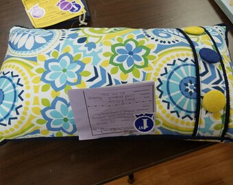 Handmade Decorator Pillow with Self-Covered Button Accents