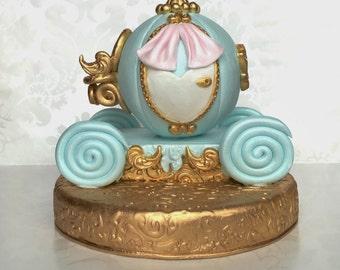 Princess Cake Topper Cinderella Carriage Cake Topper Fondant