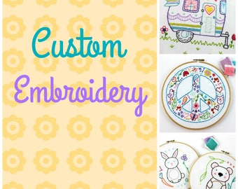 Custom Hand Embroidery Design by Lova Revolutionary