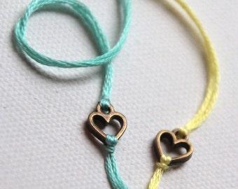 romantic jewelry valentines day gift best friend bracelets string bracelet thread bracelet personalized heart bracelet custom wish bracelet
