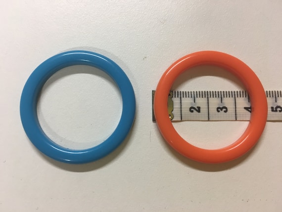 HIGH density plastic THIN RINGS (4cm) for swimsuit/fashion garments