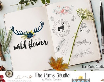 Bespoke Logo Design Hand Drawn Logo Design Blog Logo Boutique Logo Business Logo Watercolor Logo Vintage Logo Photography Branding Monogram
