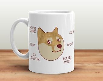 Funny Doge Mug - Internet Meme, Shibe Doge, Wow Coffee Plz, Shiba Inu Dog Mug, Holiday Gifts, Funny Gifts, Geek Gifts, Stocking Stuffer