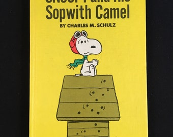 Vintage 1969 Stated First Edition Snoopy and His Sopwith Camel Illustrated by Charles Schulz Mint Book DJ with Wear Square and Tight Spine