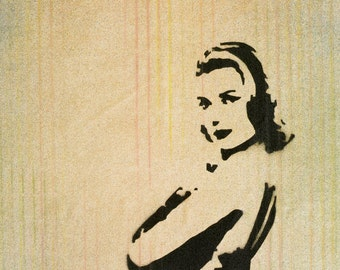 Grace Kelly - Spray Painting on Canvas by New York Artist Woodie Webber