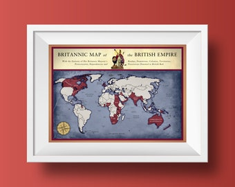 Map Poster Print - British Empire