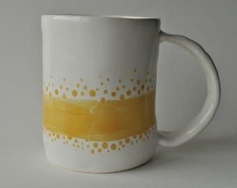 Ceramic Mugs, Cups, Dots