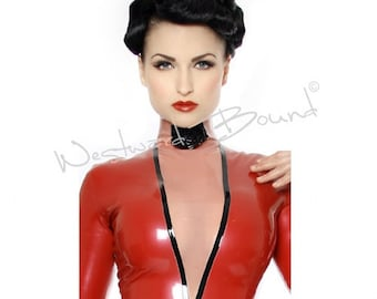 Madame Fille Rubber Latex Dress  - Zip back  R1286