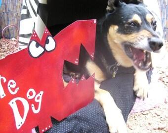 Bubba Big Red Beware of Dog Sign - Metal
