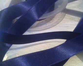 Satin ribbon double sided neck 225 Blue Navy