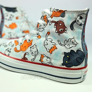 Cats converse cute cats funny cats name converse your name on converse  personalized shoes girls gift