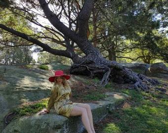 Patterned Gold Dress