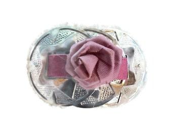 Mauve Rose Concho Barrette