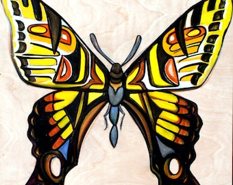 Pale Tiger Butterfly Original Painting