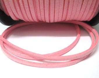 1 m look pink suede 3 mm suede cord