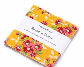 """CHARM PACK - Bread n' Butter by Sandy Klop of American Jane for Moda Fabrics, Item #21690PP Charm Pack, 42 - 5"""" Professionally Cut Squares"""