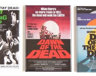 Night of the Living Dead Movie Poster Fridge Magnet Set