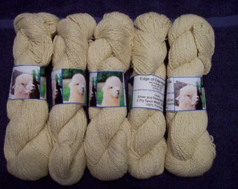 Alpaca Yarn – Silver and Rocket Man (2 ply sport weight)