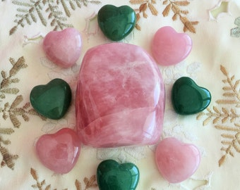 Large Rose Quartz for LOVE,  Chakras, Meditation, Crystal Grids / Healing Crystals and Stones
