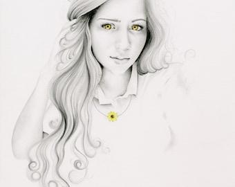 Portrait dessin personnalisé Portraits crayon à la main unique en un cadeau unique crayon Portraits personnalisé maman cadeau Portrait Portraits dessinés