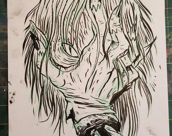 Face Palm Original Drawing