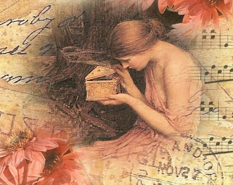 ZNE ATC ACEO - Golden Box - Digital Collage Art by ruby