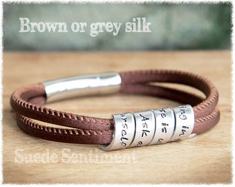 Personalized Bracelet • Graduation Gifts For Women • Best Friend Gift • Personalized Jewelry • Silk Bracelet • Anniversary Gifts For Her