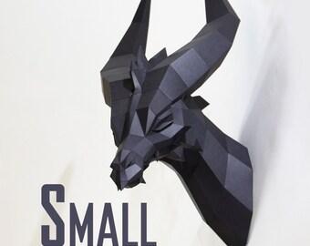 SMALL  Black Dragon - Premium Papercraft Kit
