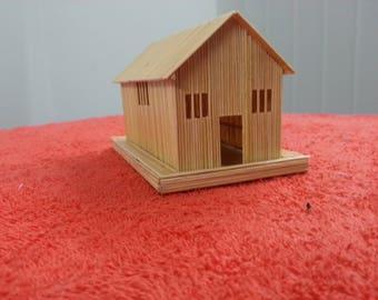 Decorative House made of leaf stick