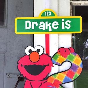 Elmo Banner - Elmo Birthday - Elmo Party - Elmo Decor - Elmo Sign - Sesame Street Party - Sesame Birthday - Sesame Street Birthday