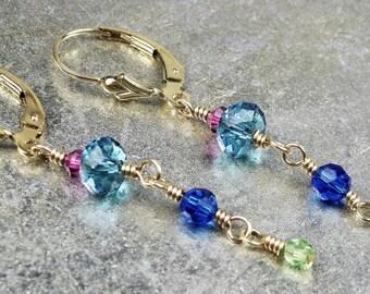 Jewel-Tone Earrngs