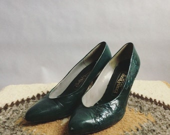 Vintage Green Pumps
