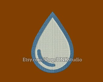 Water Embroidery Design - 6 Sizes - INSTANT DOWNLOAD
