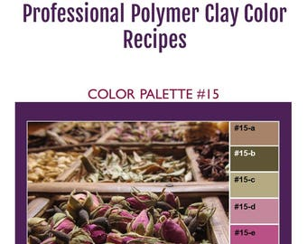 FIMO Professional Polymer Clay Color Mixing Recipes for Color Palette #15