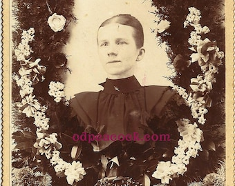 Memorial mourning photo young woman White Oak PA death oddity