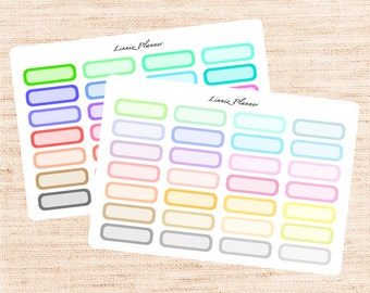 Quarter Boxes Functional Basics (matte planner stickers, Erin Condren, Happy Planner)