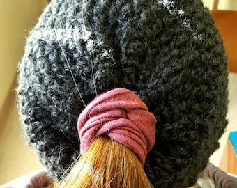 Crochet Convertable Messy Bun Beanie Pattern