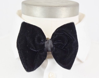 Black Velvet & Satin Bow Tie