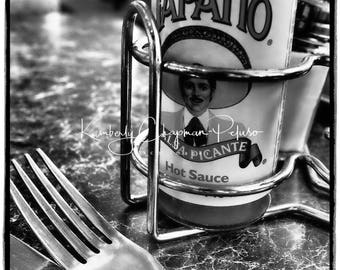 Hot Sauce in Canada! Black and white print Tapatio Fine Art Photography