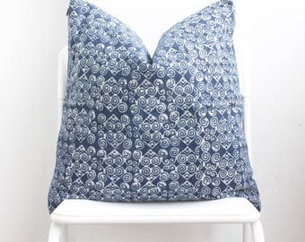 Hmong Batik Indigo Pillow Cover