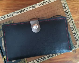 Leather Device Case/phone wallet Black
