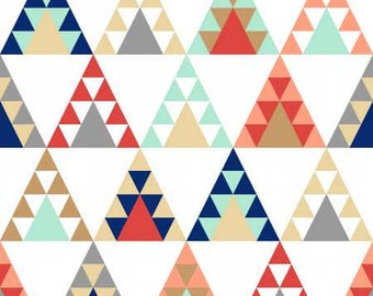 Pachua -White Tee Pee -3 Wishes-Cotton Fabric- Quilt- Apparel-WindyRobinCotton- *Sold in Half Yard.