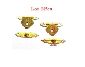 Closed box gold 18mm et3cm model size small shell in 2 parts. Set of 2Pcs.
