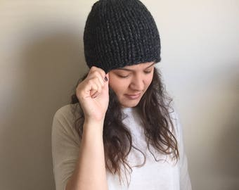 MADE TO ORDER • Chunky Knit Hat • Chunky Knit Beanie • Knitted Winter Hat