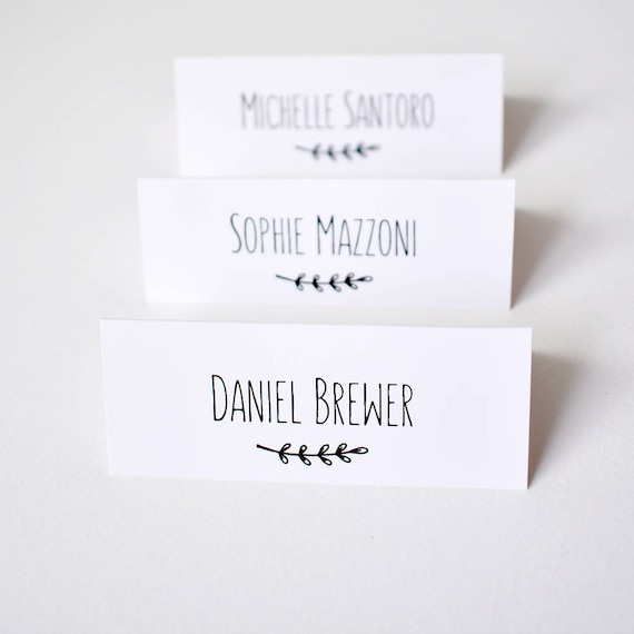 Place cards for wedding x 50 personalised wedding table name