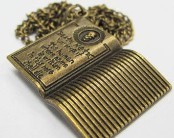 DEATH NOTE - Bronze color pendant charm - 30 x 24 mm