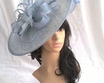 Sophia..Powder Blue Hatinator..Stunning  Sinamay Fascinator Hat on a Headband..Hatinator