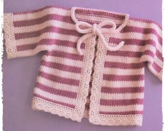 PDF Knitting Pattern Baby Cardigan Knitting Pattern