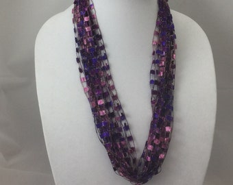Sassy Necklace in Jeweled Pink and Purple